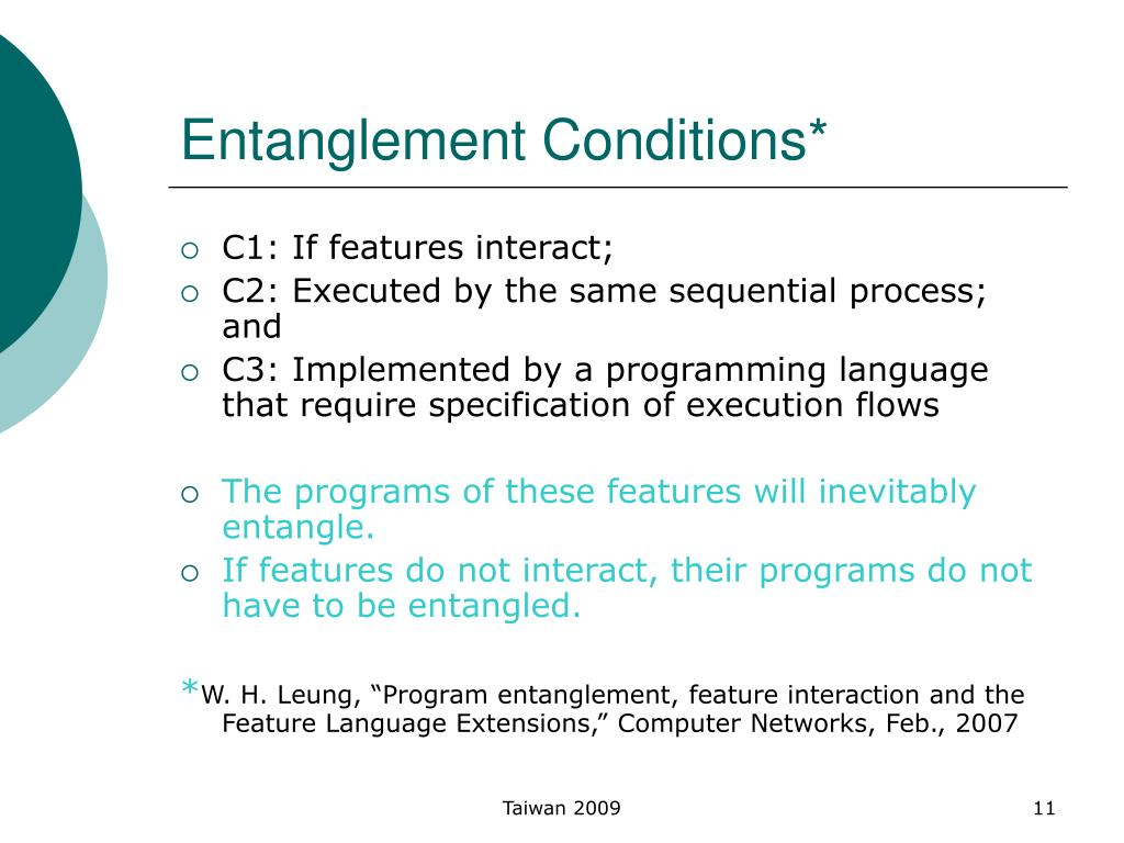 Entanglement Conditions*