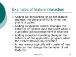 examples of feature interaction