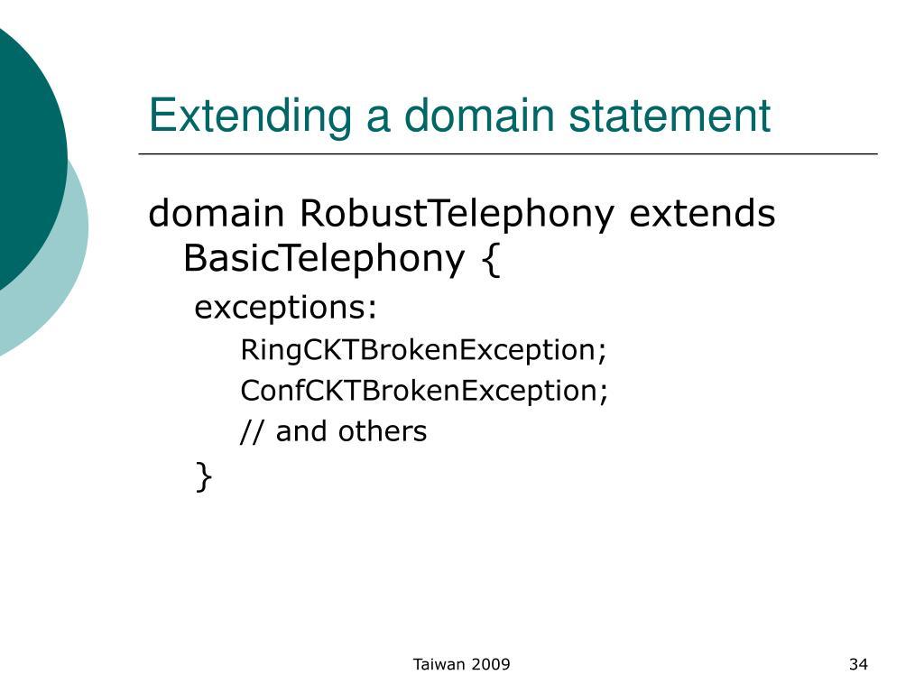 Extending a domain statement