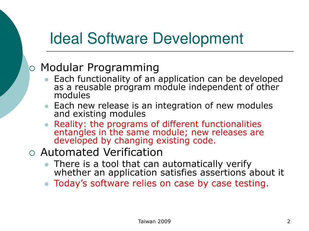 Ideal Software Development