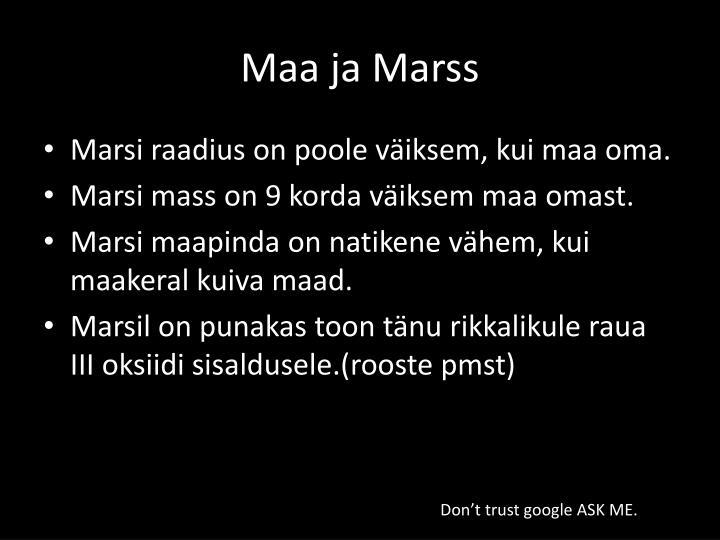 Maa ja Marss