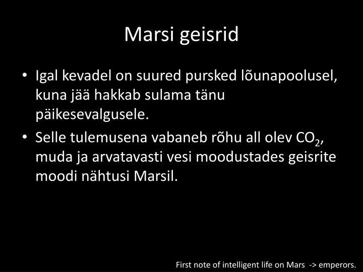 Marsi geisrid