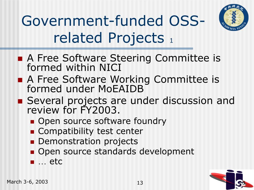 Government-funded OSS-related Projects