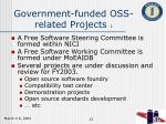 government funded oss related projects 1