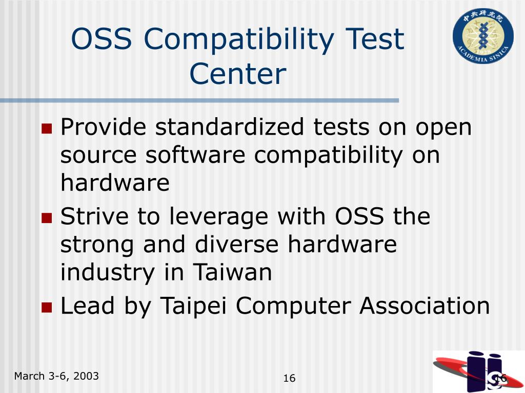 OSS Compatibility Test Center