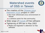 watershed events of oss in taiwan