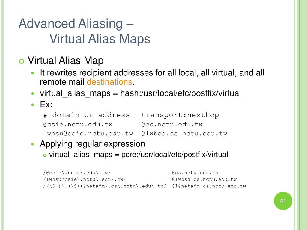 Advanced Aliasing –