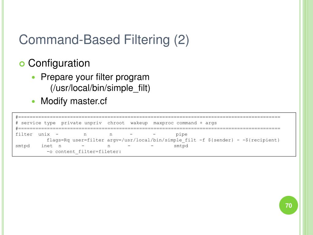 Command-Based Filtering (2)