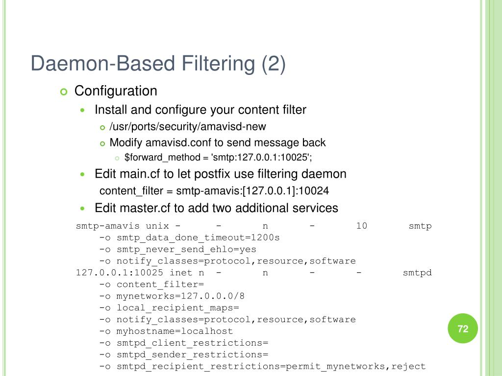 Daemon-Based Filtering (2)