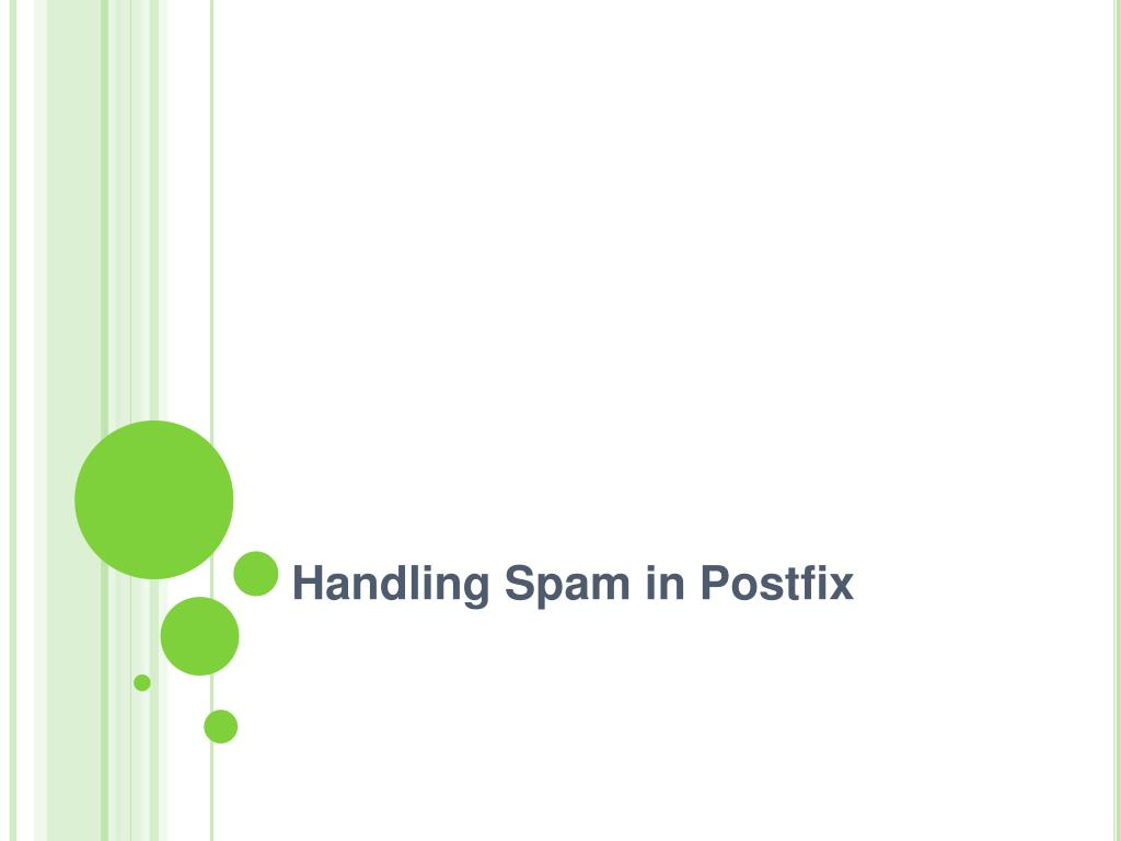 Handling Spam in Postfix
