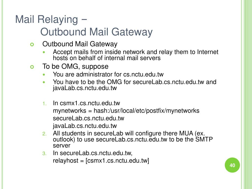 Mail Relaying