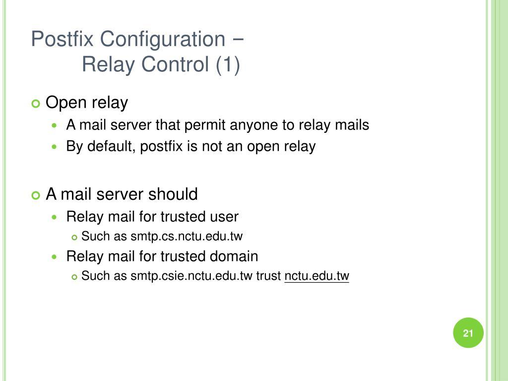 Postfix Configuration