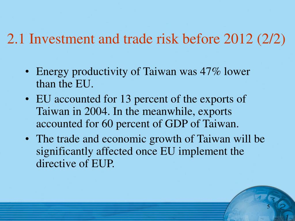 2.1 Investment and trade risk before 2012 (2/2)