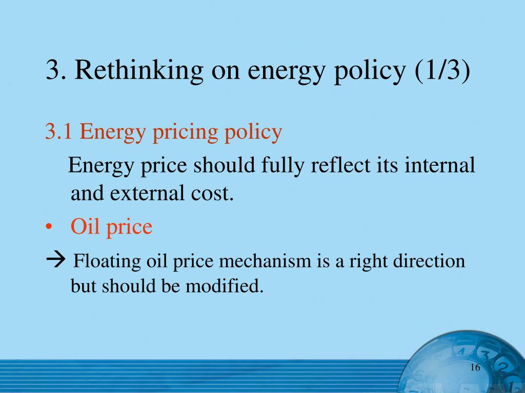 3. Rethinking on energy policy (1/3)