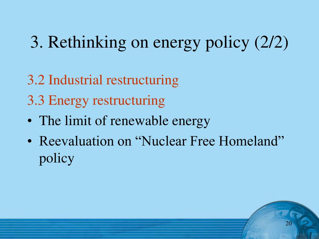 3. Rethinking on energy policy (2/2)