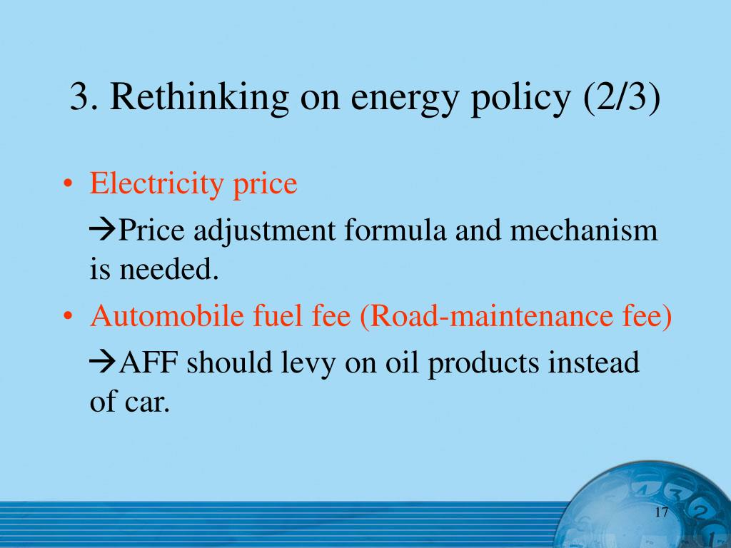 3. Rethinking on energy policy (2/3)