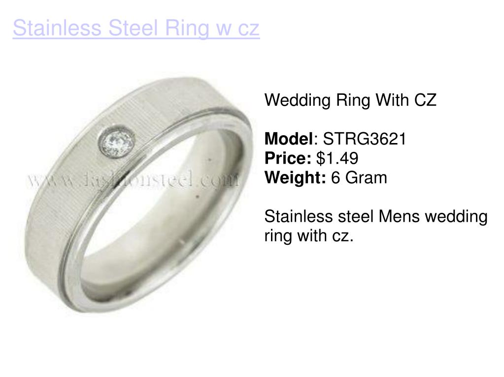 Wedding Ring With CZ
