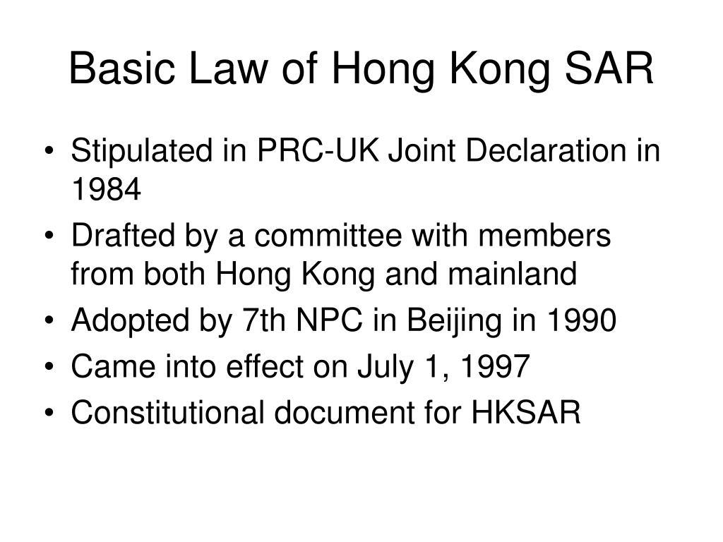 Basic Law of Hong Kong SAR