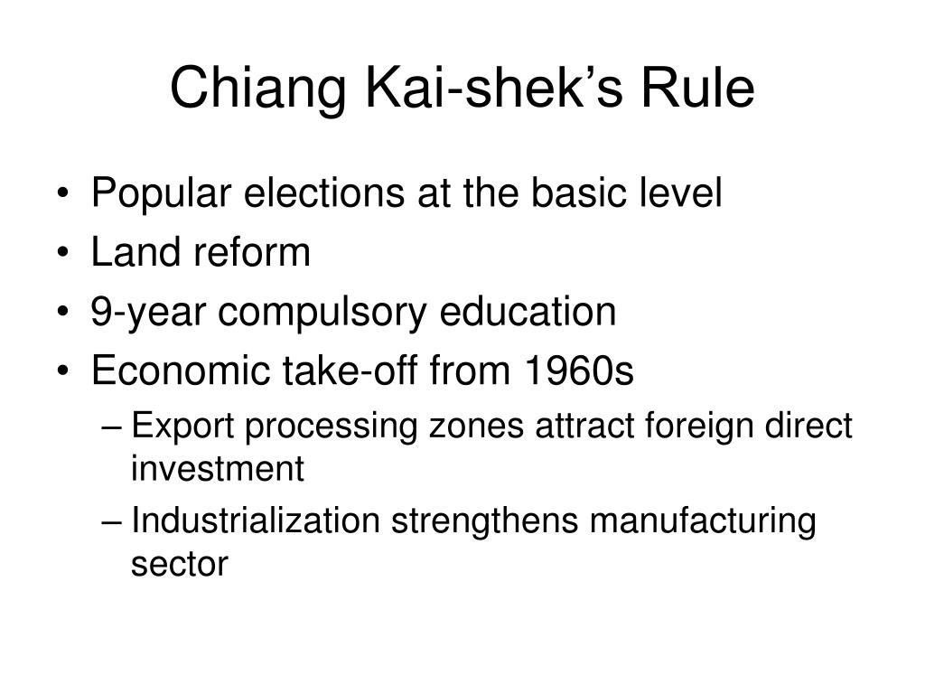 Chiang Kai-shek's Rule