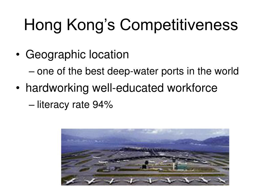 Hong Kong's Competitiveness