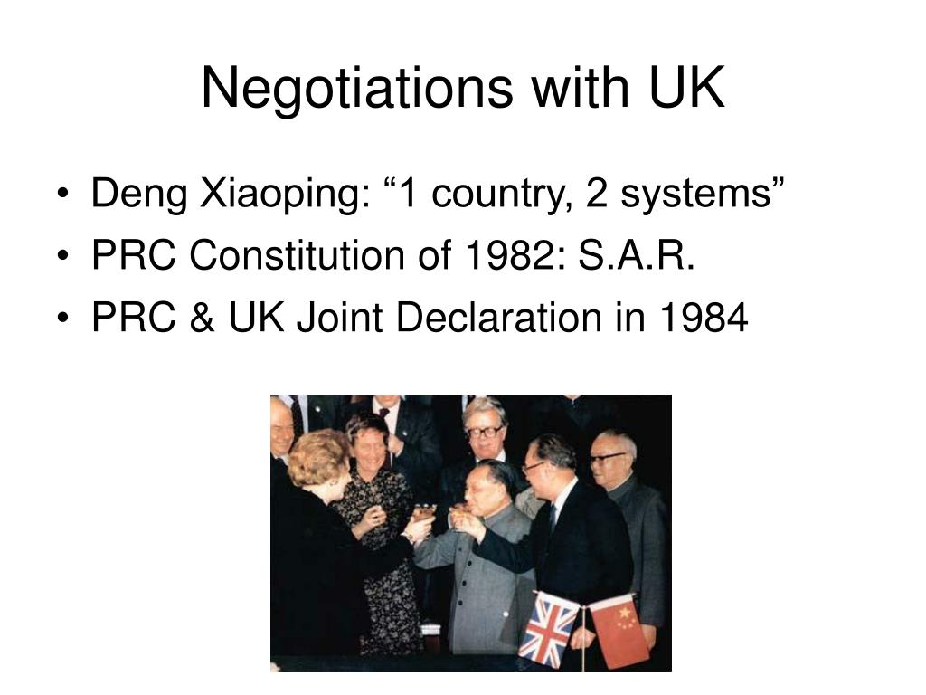 Negotiations with UK
