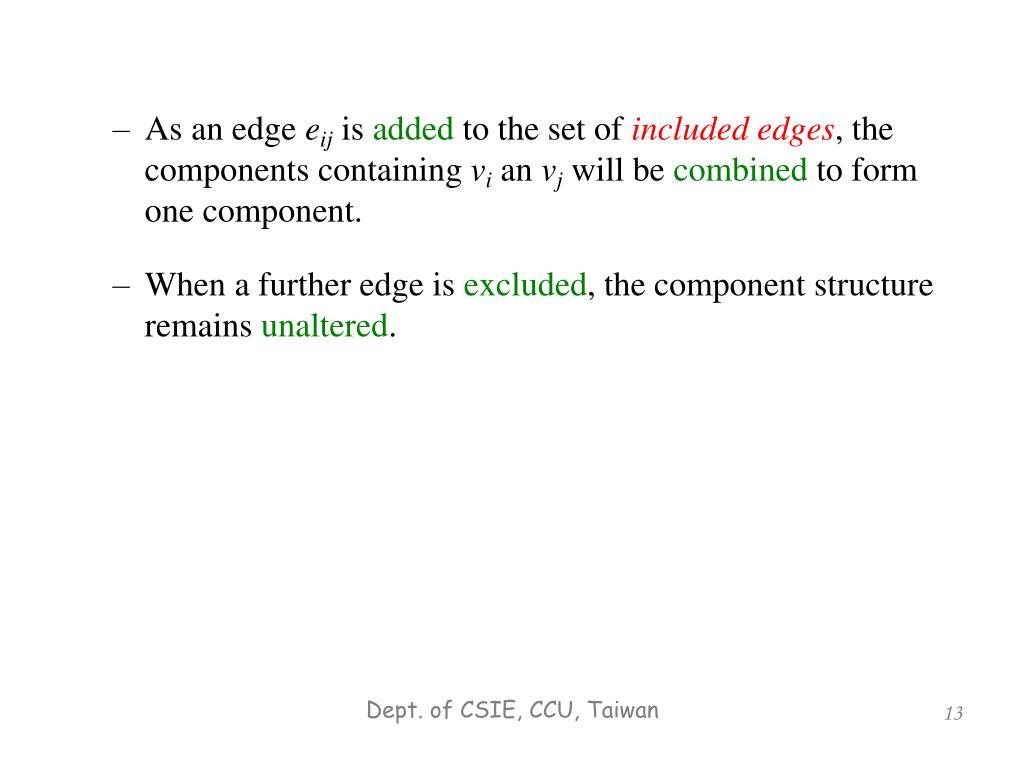 As an edge