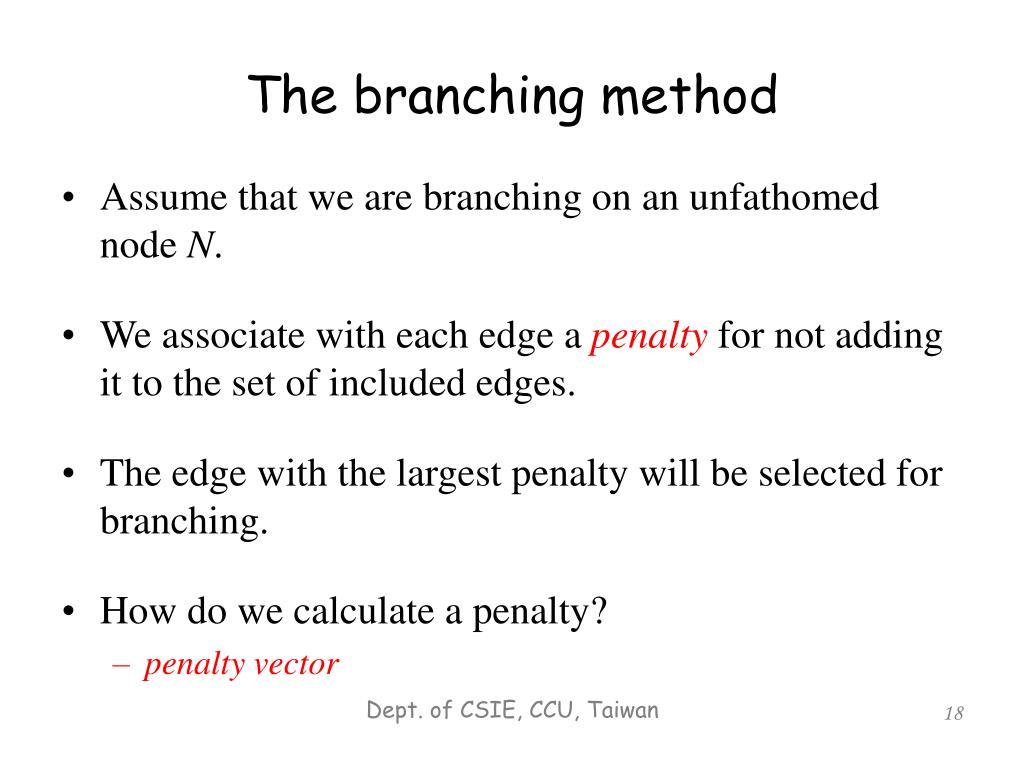 The branching method