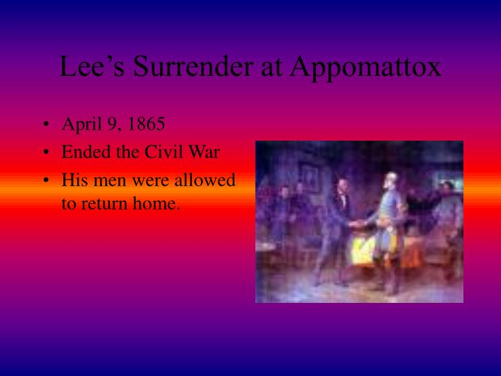 Lee's Surrender at Appomattox