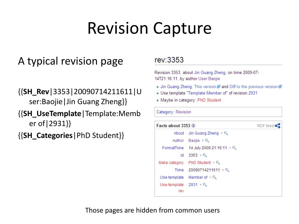 Revision Capture