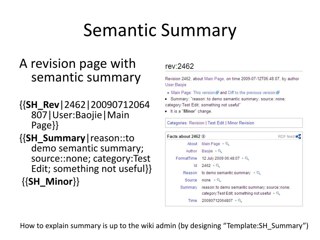 Semantic Summary
