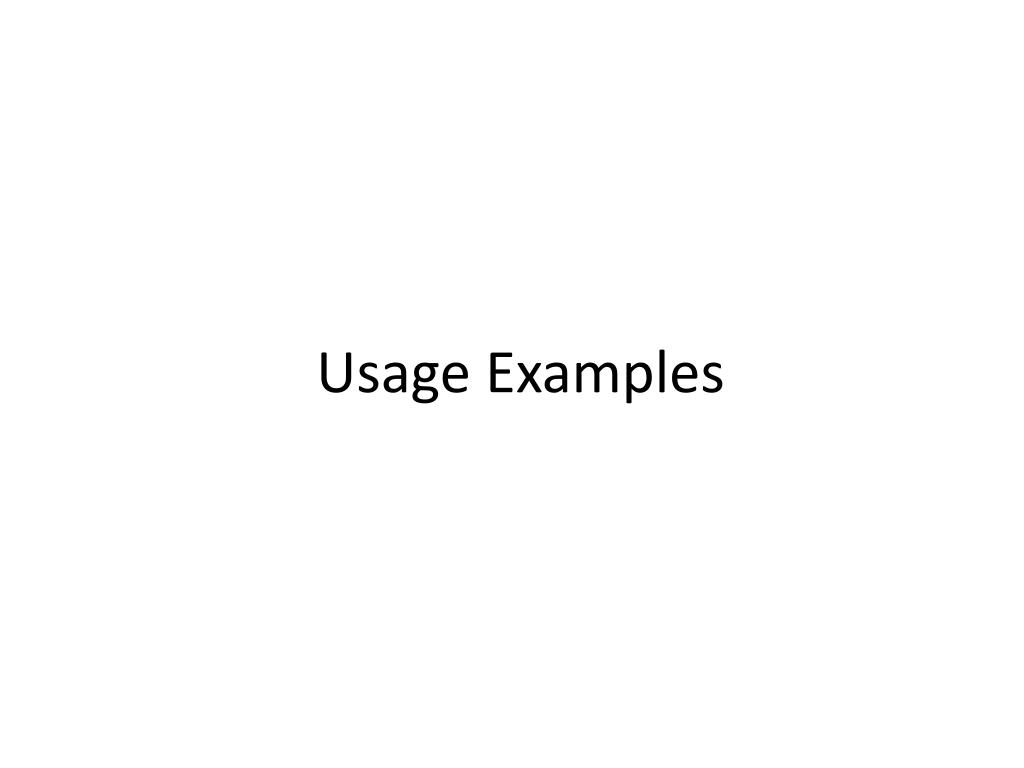 Usage Examples