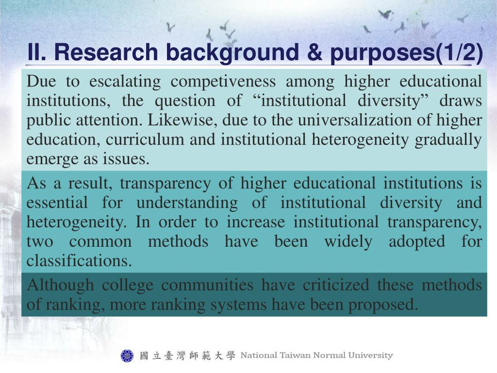 II. Research background & purposes(1/2)