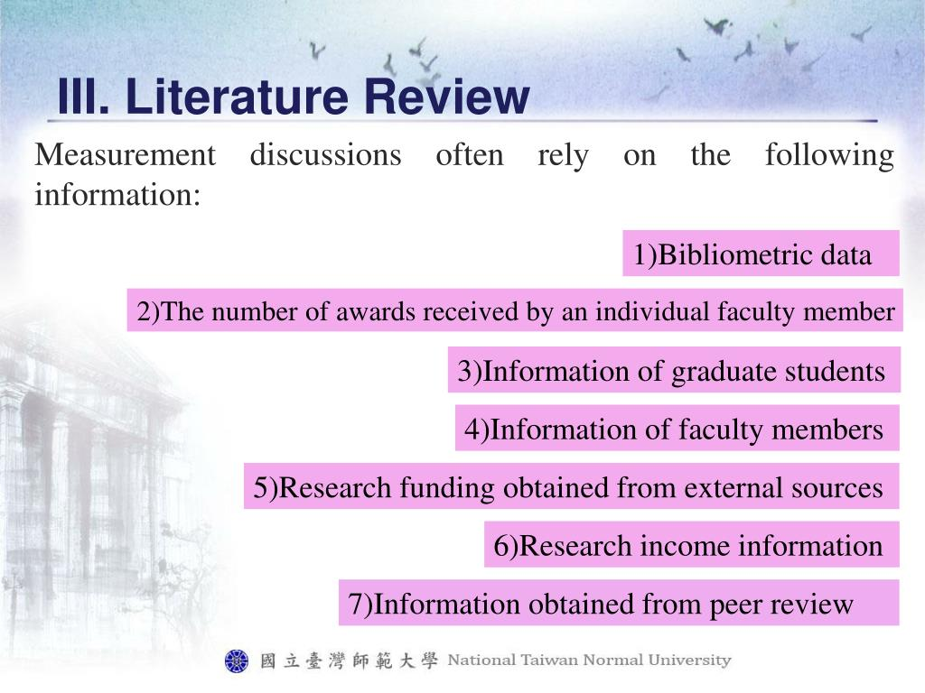 III. Literature Review