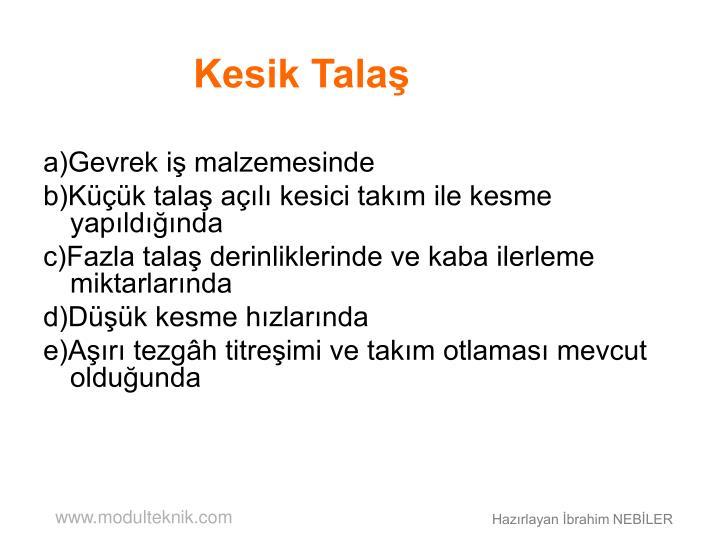 Kesik Talaş