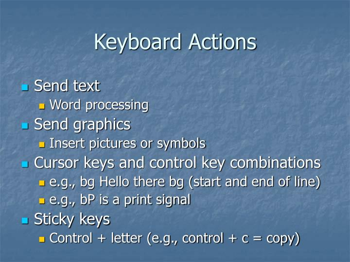 Keyboard Actions