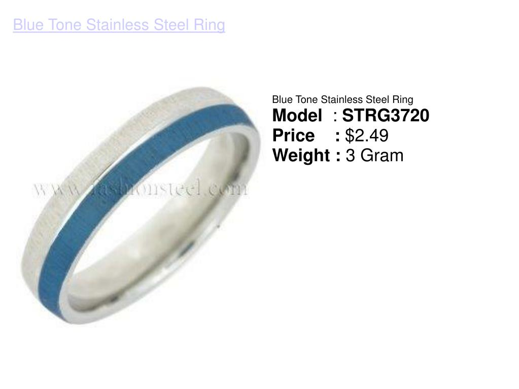 Blue Tone Stainless Steel Ring