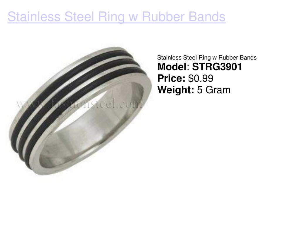 Stainless Steel Ring w Rubber Bands