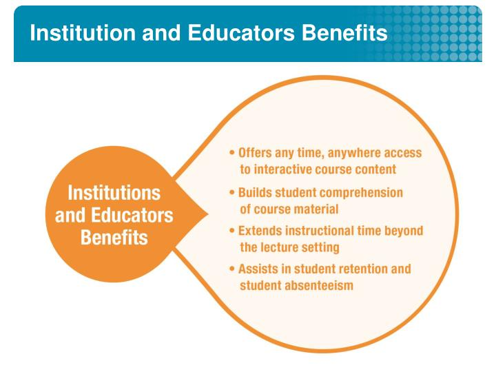 Institution and Educators Benefits