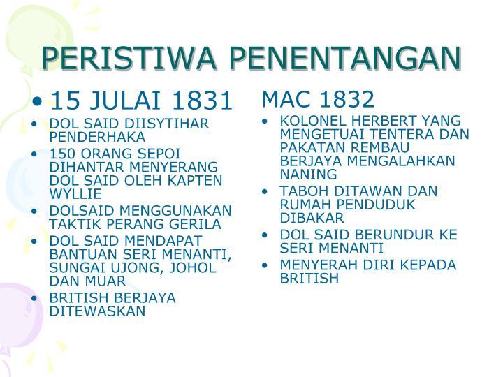 15 JULAI 1831