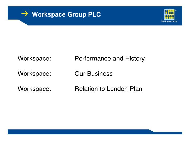 Workspace Group PLC