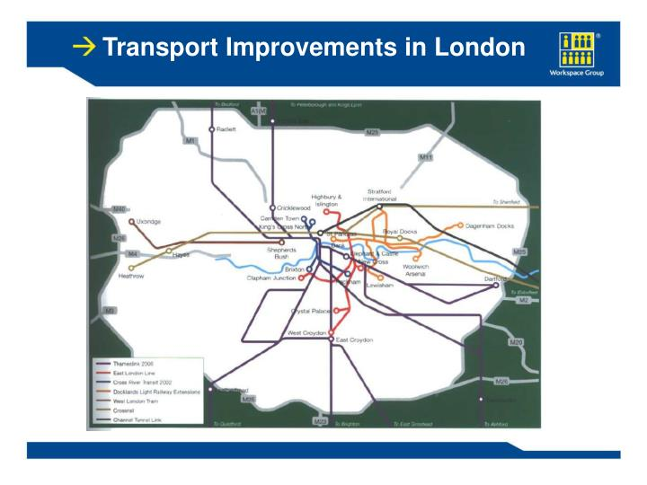 Transport Improvements in London