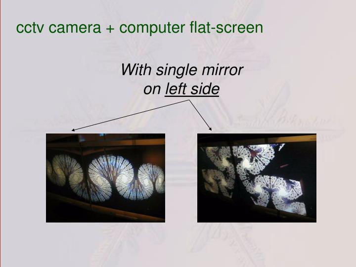 cctv camera + computer flat-screen
