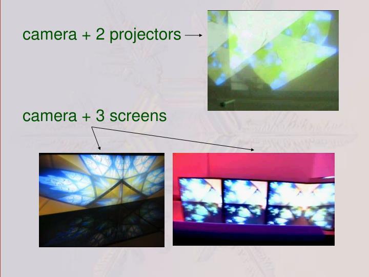 camera + 2 projectors