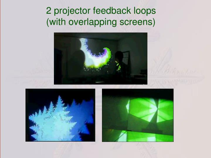 2 projector feedback loops