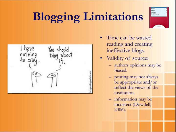 Blogging Limitations