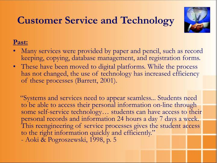 Customer Service and Technology