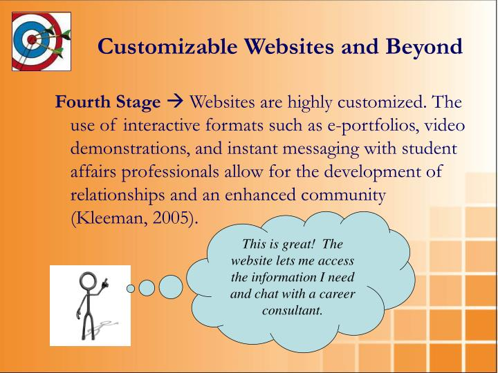 Customizable Websites and Beyond