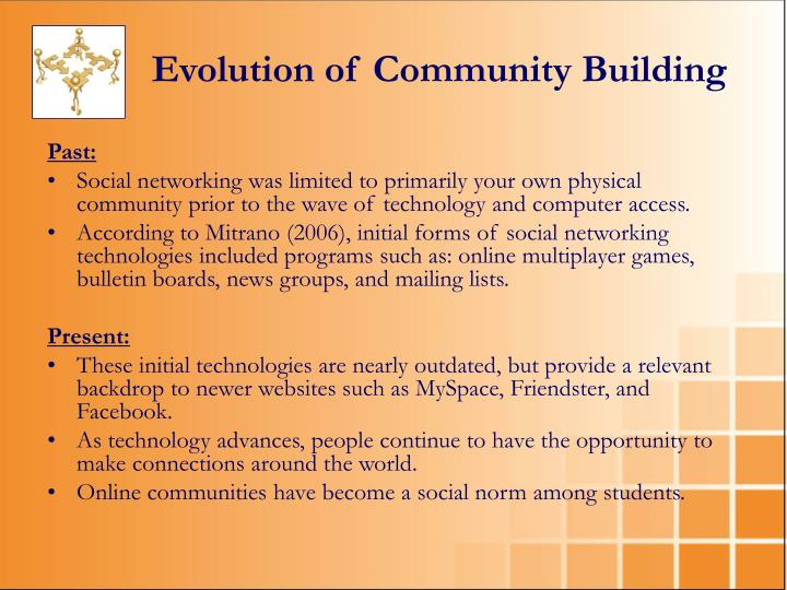 Evolution of Community Building