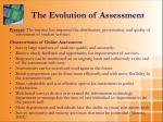 the evolution of assessment2