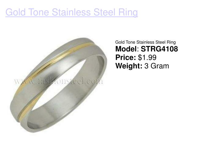 Gold tone stainless steel ring
